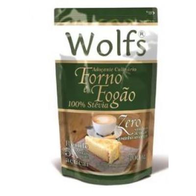 ADOÇANTE FORNO E FOGÃO 100% STEVIA 300G WOLFS
