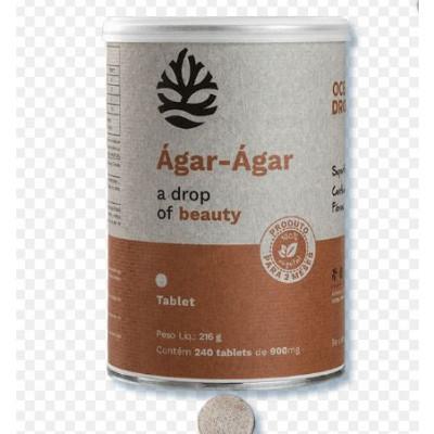 Agar- Agar 900MG 240 Tabletes - Ocean Drop