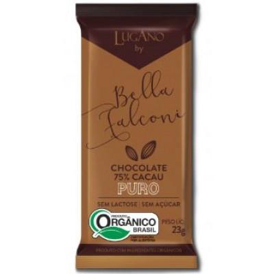 Barra de Chocolate 75% Cacau Cx. 20 unidades Lugano By Bella Falconi