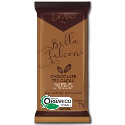 Barra de Chocolate 75% Cacau Lugano By Bella Falconi