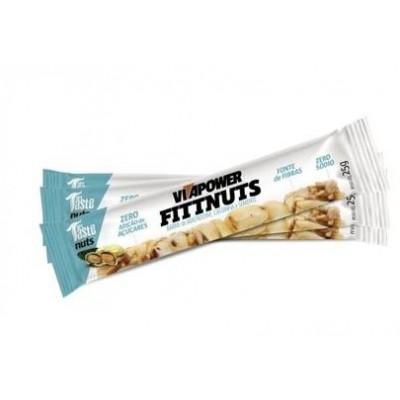 Barra Fittnuts Caixa com 12 unidades Amendoim - Castanha e Semente - Vitapower