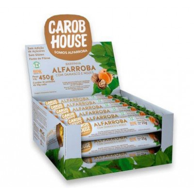Barrinha de Alfarroba com Damasco e Nozes Cx18 Carob House