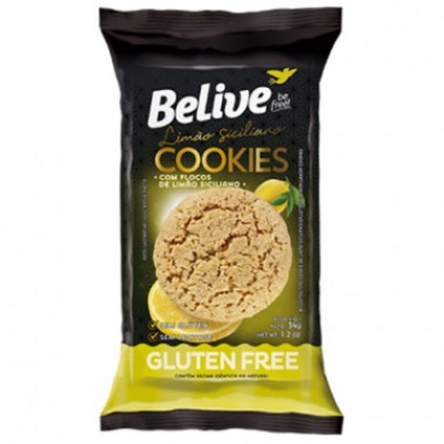 Cookies Limão Siciliano 34G - Belive Be Free