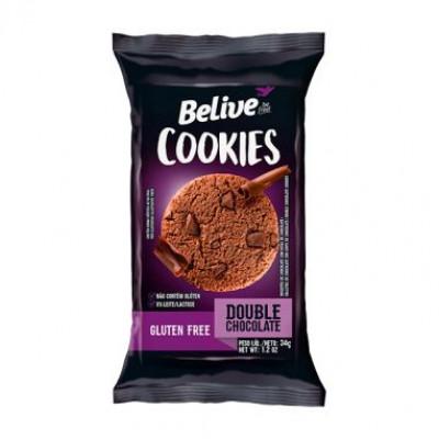 Cookie Sem Glúten Double Chocolate 34G - Belive Be Free