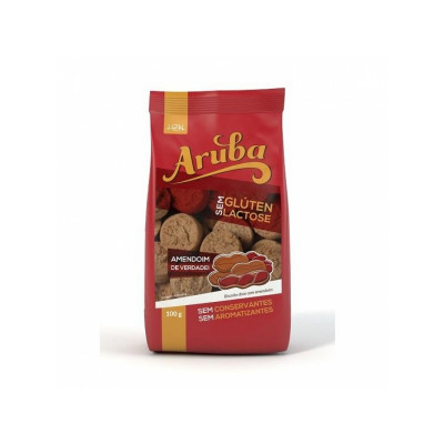 Biscoito Doce de Amendoim Sem Glúten 100G - Aruba