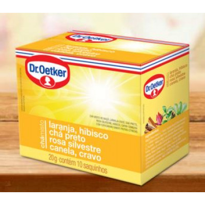 Chá Misto Laranja, Hibisco, Preto, Rosa Silvestre, Canela e Cravo 10 sachês - Dr.Oetker