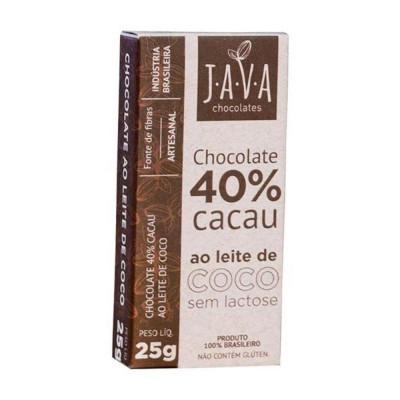 Chocolate 40% Cacau ao Leite de Coco - Java Chocolates