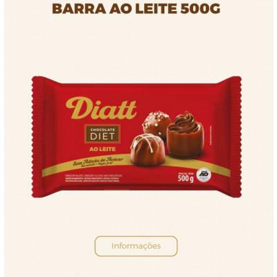 Barra Diet 500G Chocolate ao Leite - Diatt