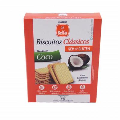 Biscoito Sem Glúten Com Coco 84G - Belfar