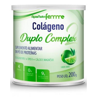Colágeno Duplo Complex 200G Limão -Apisnutri