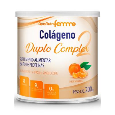 Colágeno Duplo Complex 200G Tangerina - Apisnutri