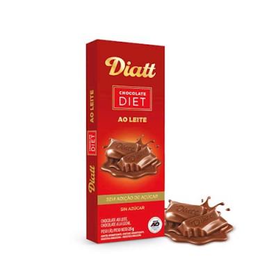 Barra Diet 25G Chocolate ao Leite - Diatt