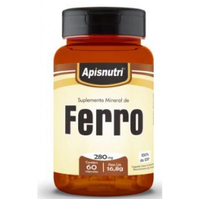 Suplemento Mineral de Ferro 280MG 60 Capsulas Apisnutri