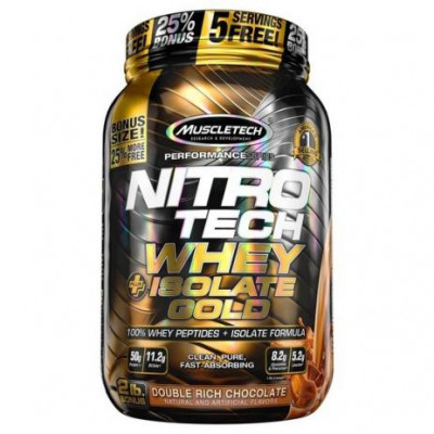 Nitro Tech whey Isolate Gold 907G Double Rich Chocolate - Muscletech