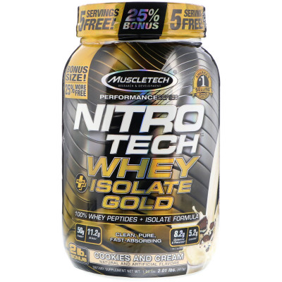 Nitro Tech whey Isolate Gold 913G Cookies - Muscletech