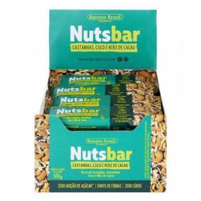 NutsBar CX12 Castanha/Coco e Nibs de Cacau Banana Brasil