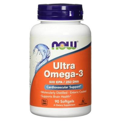 Ultra Ômega-3 90 Cápsulas - Now Sports