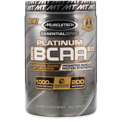 Platinum 100% BCAA 8:1:1 200 Cápsulas - Muscletech