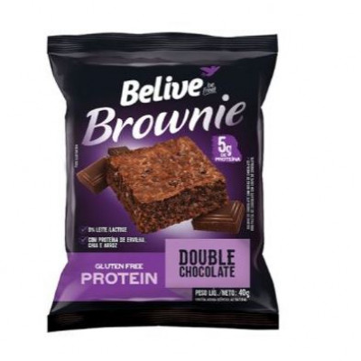 Brownie Sabor Double Chocolate Protein 40G - Belive Be Free