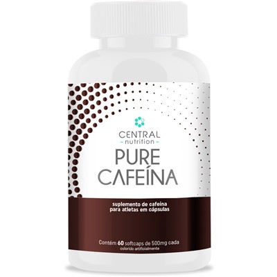 Pure Cafeina 420MG 60 Cápsulas - Central Nutrition