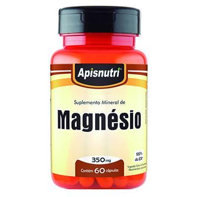 Suplemento Mineral de Magnesio 350MG 60 Capsulas Apisnutri