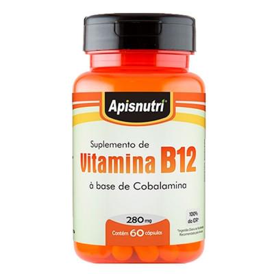 Suplemento de Vitamina B12 60 Capsulas Apisnutri