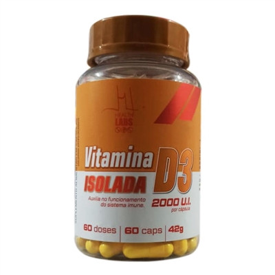 Vitamina D3 Isolada 2000UI 60 Cápsulas - Health Labs