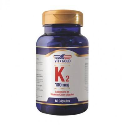 Vitamina K-2 100mcg 60 Cápsulas - Vit Gold